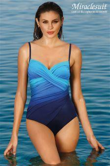 Miraclesuit Blue Centrefold Hidden Underwire Swimsuit
