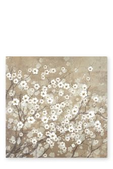 Gold Delicate Floral Canvas