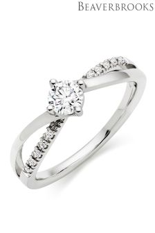 Beaverbrooks 18ct White Gold Diamond Solitaire Ring