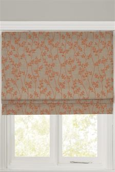 Orange Leaf Roman Blind