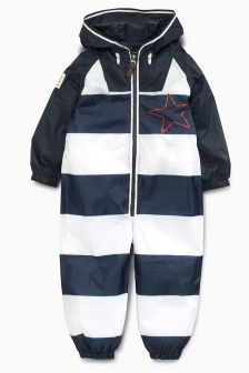 Navy/White Stripe Puddle Suit (3mths-6yrs)