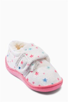 Star Print Slippers (Younger Girls)