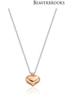 Beaverbrooks Rose Gold Plated Heart Pendant