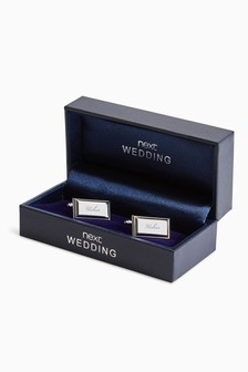 Silver Tone Wedding - Usher Cufflinks