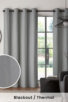 Cotton Blackout Eyelet Curtains