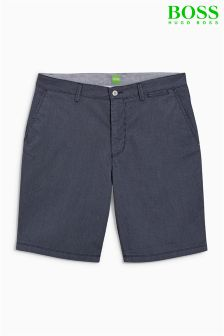 Boss Green Navy Striped Shorts