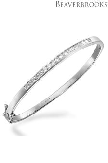 Beaverbrooks Silver Cubic Zirconia Bangle