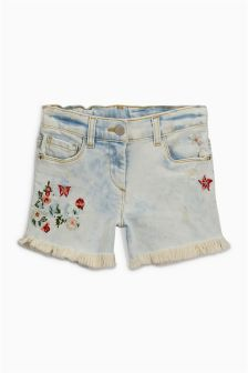 Embroidered Denim Shorts (3-16yrs)