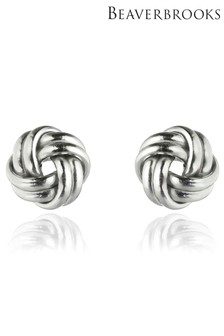 Beaverbrooks 9ct White Gold Knot Stud Earrings