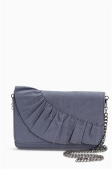 Ruffle Clutch Bag