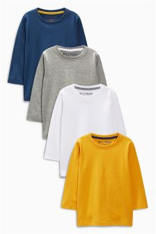 Four Pack Long Sleeve Tops (3mths-6yrs)