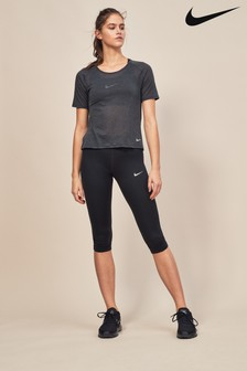 Nike Run Black Running Capri