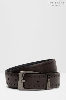 Ted Baker Brown Brogue Detail Belt