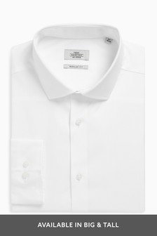 Cotton Cutaway Collar Shirt