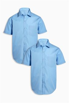 Short Sleeve Shirts Two Pack (3-16yrs)