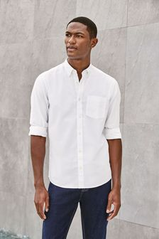 White Mens Shirts | White Shirts for Men | Next Official Site