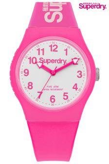 Pink Superdry Watch