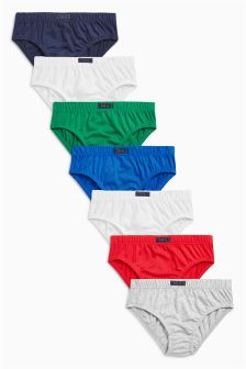 Colour Briefs Seven Pack (1.5-12yrs)
