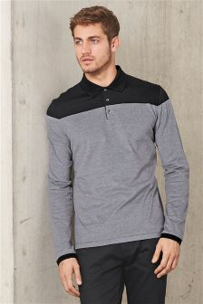Long Sleeve Block Premium Polo