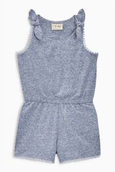 Lace Trim Playsuit (3mths-6yrs)
