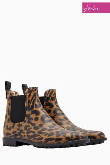 Joules Leopard Chelsea Boot