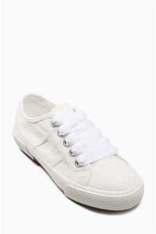 Ribbon Lace-Up Trainers (Older Girls)