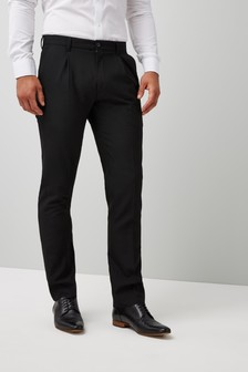 Slim Pleated Trousers
