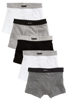 Grey/Black Trunks Five Pack (2-16yrs)