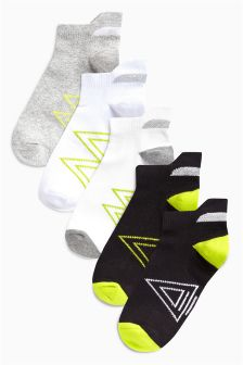Sports Trainer Socks Five Pack (Older Boys)