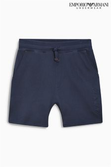 Armani Navy Embossed Logo Short