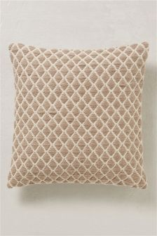 Natural Woolly Geo Cushion