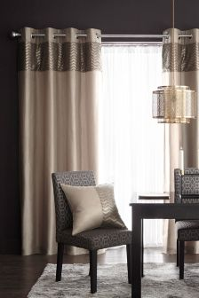 Metallic Shimmer Eyelet Curtains