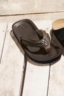 Leather Toe Post