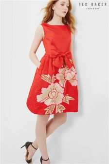 Ted Baker Red Ferox Floral Dress