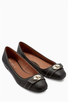 Metal Trim Ballerinas