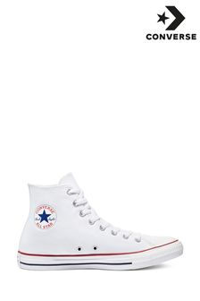 White Converse Chuck Taylor Hi