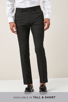 Plain Front Skinny Fit Trousers