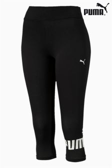 Puma® Black Essential 3/4 Logo Legging
