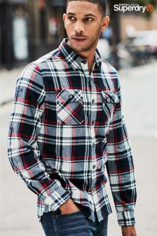 Superdry Black/Red Lumberjack Check Shirt