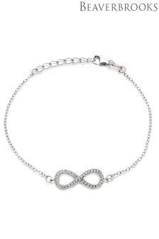 Beaverbrooks Silver Infinity Cubic Zirconia Bracelet