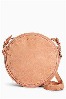 Suede Circle Across-The-Body Bag