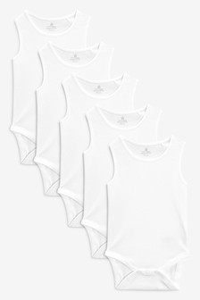 White Vests Five Pack (0mths-3yrs)