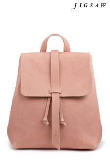 Jigsaw Pink Blake Leather Backpack