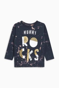 Mummy Rocks Long Sleeve T-Shirt (3mths-6yrs)