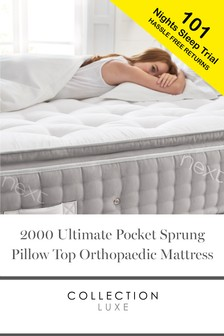 2000 Pocket Sprung Luxury Pillow Top Orthopaedic Mattress