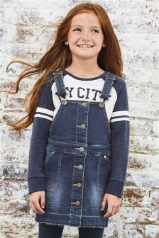 Pinafore And T-Shirt Set (3-16yrs)
