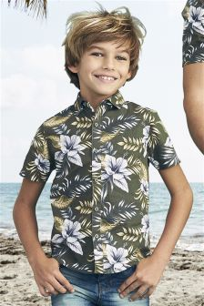 Short Sleeve Floral Print Shirt (3mths-16yrs)