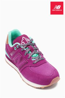 New Balance Pink And Turquoise 574 Trainer