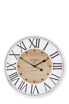 Rustic Numeral Wall Clock