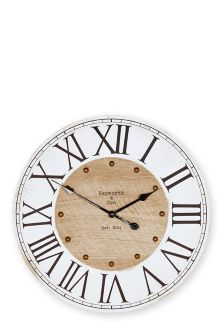 Rustic Numeral Wall Clock